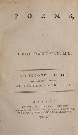 Poems... The Second Edition, altered and corrected, with several Additions. by DOWNMAN, Hugh.
