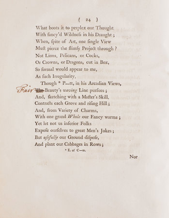 The Love of Order: a poetical Essay. In three Cantos. by [GRAVES, Richard].