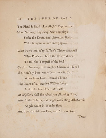 The Cure of Saul. A sacred Ode... by BROWN, John.
