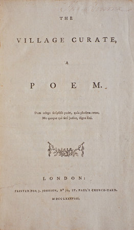 """Epistle to a Friend, on the Death of John Thornton, Esq. By the Author of """"An Epistle to an Eminent Painter."""" by [HAYLEY, William]."""