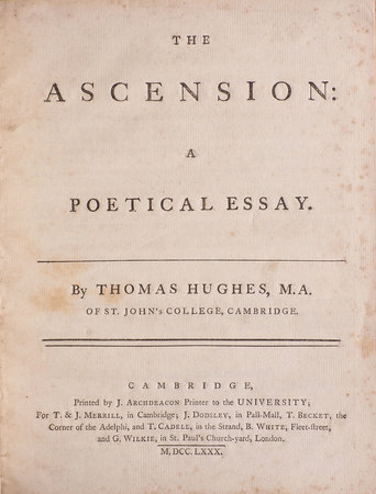 The Ascension: a poetical Essay... by HUGHES, Thomas.