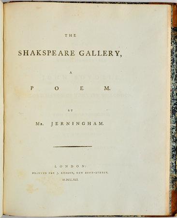 The Shakspeare Gallery, a Poem... by JERNINGHAM, Edward.