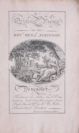 Original Poems... by JOHNSON, Benjamin.