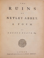 The Ruins of Netley Abbey. A Poem... by KEATE, George.