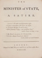 THE MINISTER OF STATE, a satire. by MINISTER