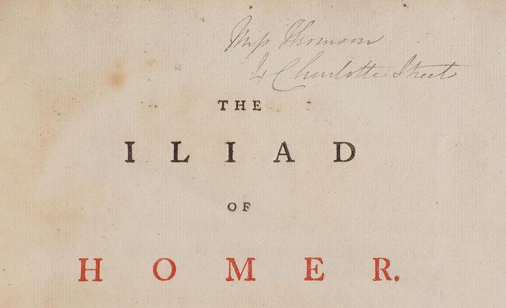 The Iliad... by MACPHERSON, James, translator. HOMER.
