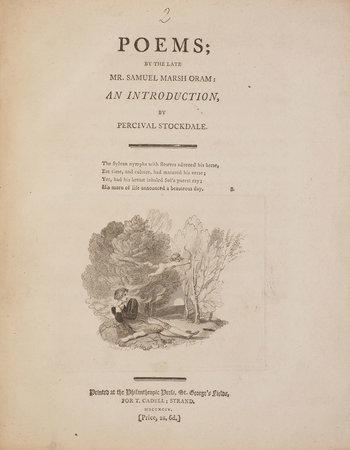Poems... by ORAM, Samuel Marsh.
