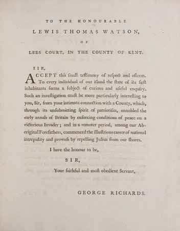 The Aboriginal Britons, a prize Poem, spoken in the Theatre at Oxford, July VIII. MDCCXCI... The second Edition. by RICHARDS, George.