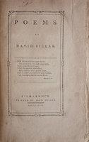 Poems... by SILLAR, David.