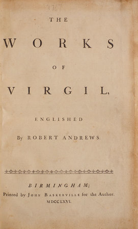 The Works of Virgil, Englished by Robert Andrews. by VIRGIL.