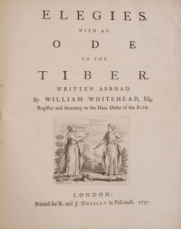 Elegies. With an Ode to the Tiber. Written abroad … by WHITEHEAD, William.