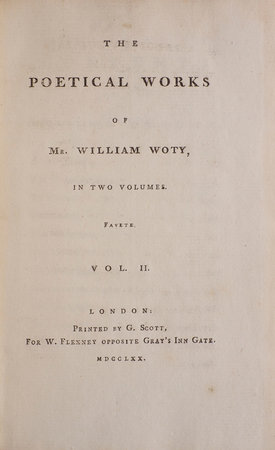 The Poetical Works... by WOTY, William.