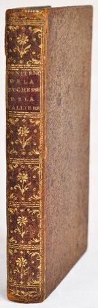 Penitence de la Duchesse de la Vallière [spine title]. by LA VALLIÈRE, Louise, duchesse de.