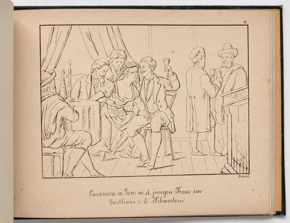[Album zu den Memoiren des Jacob Casanova von Seingalt by (CASANOVA, Giacomo). [BERTHOLD, Max, illustrator].