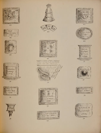 95 Hand Pen and Ink Sketches of Old London Signs, &c. An original Collection. by (LONDON SIGNS).