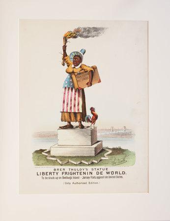 Brer Thuldy's Statue; Liberty Frightenin de World. by WORTH, Thomas (1834-1917).