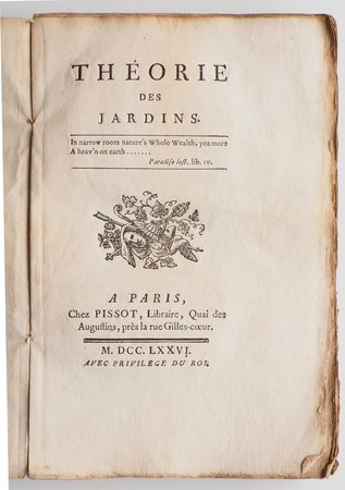 Théorie des Jardins. by [MOREL, Jean-Marie].