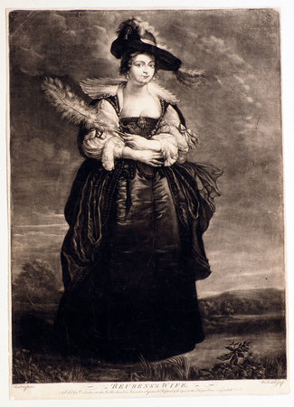 Reubens's Wife. by [FOURMENT, Helena]. [MCARDELL, James, engraver, after Peter Paul RUBENS].