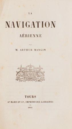 La Navigation aérienne. by MANGIN, Arthur.