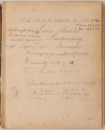[Account book. by (POLICE). CLARKE, A.E.W, Police Constable no 136.