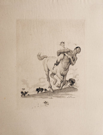 Contes. Hyalis. Rovère et Angisèle—Xanthis. Divine bontemps. by SAMAIN, Albert. Louis Edouard FOURNIER, illustrator.