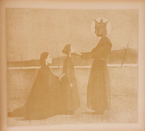 Les grands Saints des petits enfants: légendes en images. by MOREAU-NÉLATON, Étienne, illustrator.