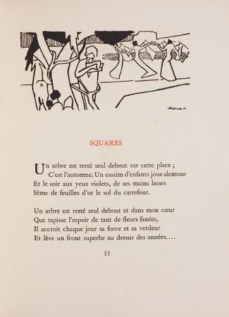 Le Bocage amoureux ou le divertissement des amants citadins et champêtres. by GLEIZES, Albert, illustrator. Roger ALLARD.