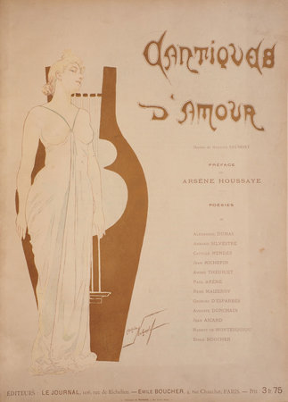Cantiques d'amour... Poèsies. by HOUSSAYE, Arsène, editor. Maurice NEUMONT, illustrator.