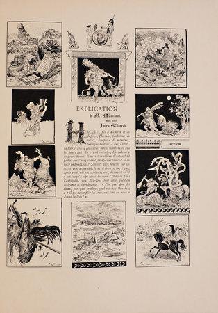 Explication. by (MARIANI) CLARÉTIE, Jules. Albert, ROBIDA, illustrator.