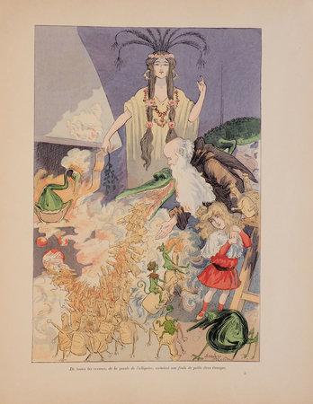 Le Château de la Grippe... illustré de quarante compositions en noir et en couleurs. by (MARIANI). ROBIDA, Albert and Émilie ROBIDA, illustrator.