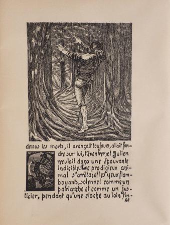 Legend Saint Julien l'Hospitalier. by FLAUBERT, Gustave. Adrien GODIEN, illustrator.