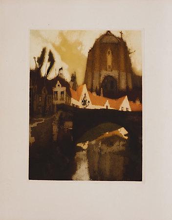 Les Villages illusoires. by VERHAEREN, Émile. J[ulien] Van SANTEN, illustrator.