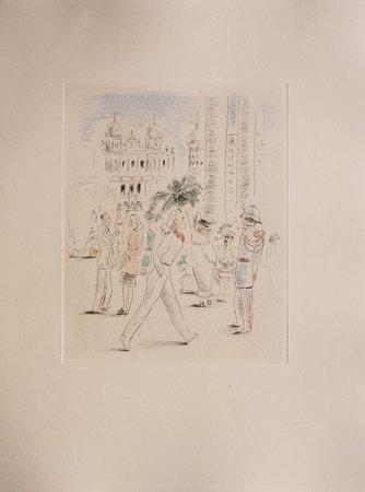 Les Ombres heureuses de Monte-Carlo. by LEPAPE, Claude, illustrator. Jean COCTEAU, preface.
