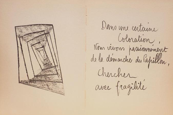 La Miette d'amour. Essai Poetique. by [MATHIEU, Pierre], illustrator.