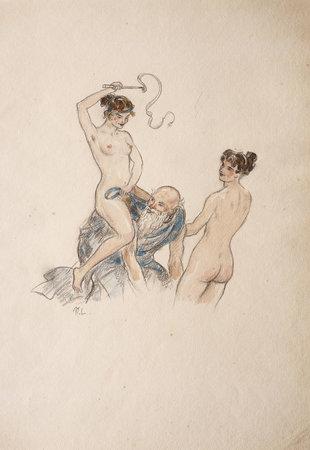 Histoires de deux Amants. by PICCOLOMINI, Silvio. [PIUS II]. Maurice LALAU, illustrator.
