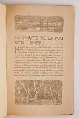 La Chute de la maison Usher. by POE, Edgar Allan. Pierre COMBET-DESCOMBES, illustrator.