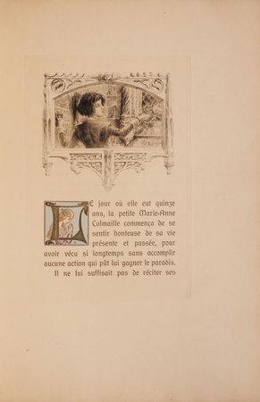 Les trois Roses de Marie-Anne. Illustrations et gravures à l'eau-forte... by LOUŸS, Pierre. Léon LEBÈGUE, illustrator.