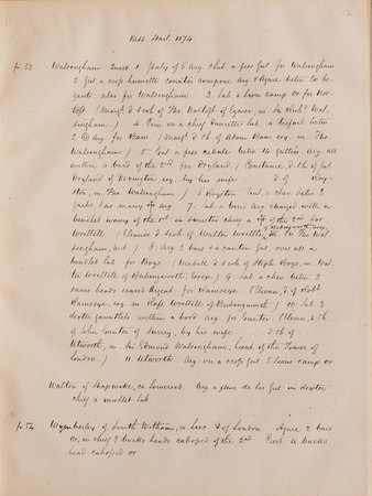 [Transcripts from Sloane and Harley Manuscripts in the British Museum. by (ARMORIALS). EEDES, James, transcriber.