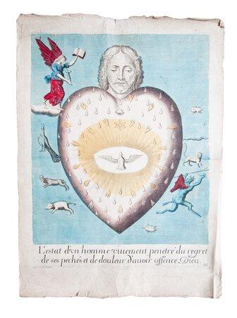 L'estat d'un homme vivement penetré du regret des ses pechés et de douleur d'avoir offence Dieu. by [HUBY, Vincent].