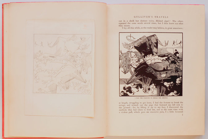 Gulliver's Travels in Lilliput and Brobdingnag. by BOSSCHÈRE, Jean de, illustrator. Jonathan SWIFT.