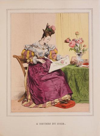 Les Heures de la Parisienne. Collection costumes et modes d'autrefois. by DEVÉRIA, Achille, illustrator. Roger-Armand WEIGERT, text.