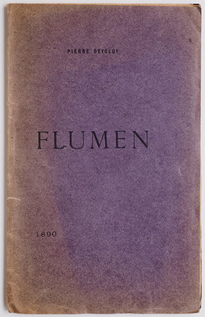 Flumen. by DEVOLUY, Pierre.