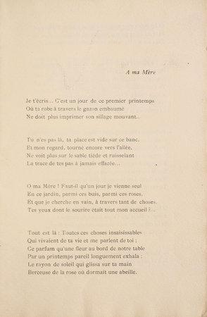 Élégie. by 'TOUNY-LÉRYS' [pseudonym of Marcel MARCHANDEAU].