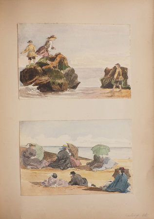 [Album of watercolours, sketches and lithographs. by BOYLE, Rosalie.