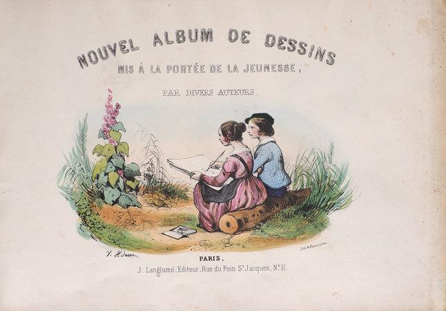 Nouvel Album de dessins mis à la portée de la jeunesse par divers auteurs. by (JUVENILE). [ADAM, Victor, CAROT and HUBARD, illustrators].