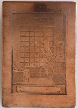 for an unidentified erotic work. by [COPPER PLATE