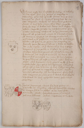 [Heraldic pedigree. by DAMANT, François and Nicolas and family.