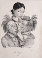 Les Osages. by DELPECH, François Séraphin [after a drawing by] Louis-Léopold BOILLY.