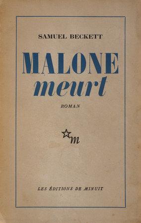 Malone meurt. by BECKETT, Samuel.