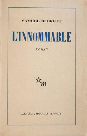 L'Innommable. by BECKETT, Samuel.